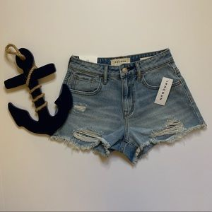 PacSun High Rise Distressed Shorts
